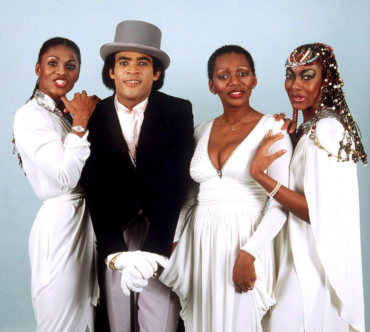 (FILE) Picture dated April 1981 shows the band Boney M. with singer Bobby Farrell (2-L) in Germany. Dutch singer Bobby Farrell from the band Boney M. has died in Russia at the age of 61, his agent said on 30 December 2010. The only male member of the four-member group died in a hotel room in St Petersburg, John Seine told the German Press Agency dpa in Amsterdam.  /MARTIN ATHENSTAEDT, Image: 229403124, License: Rights-managed, Restrictions: , Model Release: no, Credit line: Profimedia, TEMP EPA